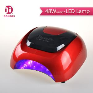 China 2016 hot-selling fast curing salon equipment manicure 48w led nail lamp with fan on sale
