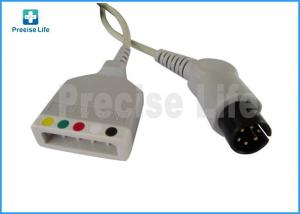 China Mindray 0010-30-12257 ECG trunk cable with AHA IEC color code Round 6 pin to 5 leads lead wire on sale