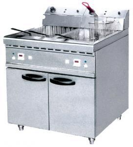 China JUSTA 40L deux électriques échouent la friteuse profonde avec l'équipement occidental de cuisine du Cabinet ZH-RCX2 on sale