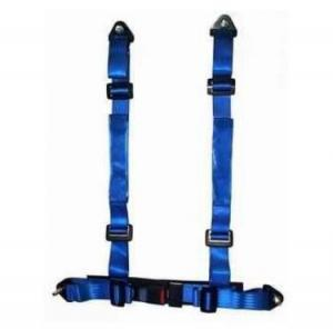 China Durable Blue Nylon Racing Safety Belts With Retractor , Four Point Seat Belt on sale