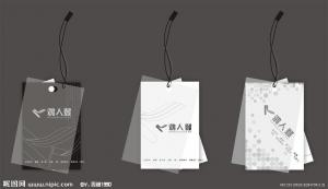 China Logo Printed Clothing Labels And Hang Tags , Advertising Paper Hang Tag on sale