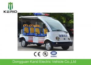 China 4 wheels Battery Powered Electric Passenger Car / Security Patrol Bus With Alarm Lamp on sale