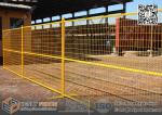 6ftX9.5ft 1 square pipe Temporary construction Fencing panels with highly visible Yellow Color  powder coat