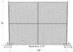 """4' tuyauterie standard de barrière de maille de chaîne de construction de x12ft USA 1 ¼ épais """" ¼ de l'ouverture 2 du ⅝» (42mm) x 17ga/1.4mm de x2» (57mmx57mm)"""