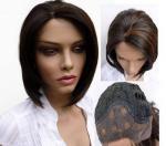 """12"""" - 36"""" vraies perruques indiennes soyeuses de cheveux de Vrgin d'avant de dentelle aucun produit chimique aucune fibre"""