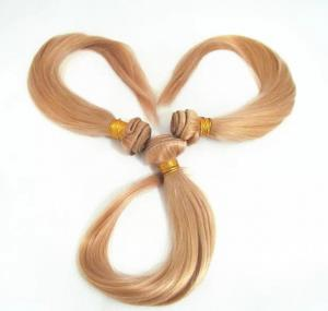 China Top Quality 14inch 100% Human Hair Blond Silky Stright Hair Weave on sale