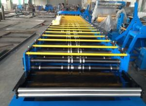 China Galvanized Steel Sheet Arch Roof Panel Roll Forming Machine , 10*1.5*1.5 M on sale