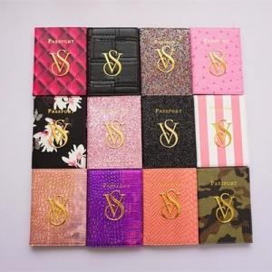 China Victoria's Secret passport holder ID Card Credit Card Coin Purse leather designer pink Wallet on sale