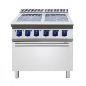 China 4 ring Induction on open cupboard catering equipment  commercial induction range hob on sale