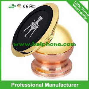 China Gold Metal 360 Degree Rotation Magnetic Car Mount Universal Mobile Phone car holder on sale