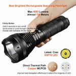 Rechargeable / Dischargeable Search And Rescue Flashlight Good Heat Dissipation