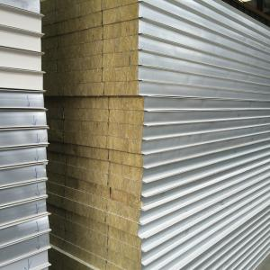 China Rockwool Insulated Sandwich Panels Environmental Friendly 5mm - 300mm Thickness on sale
