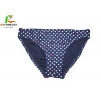 Colorful Custom Printed Clothing Small Spot Blue Bikini Bottom For Womens