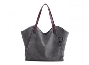 Quality Heavy Leather Handles Eco Friendly Canvas Bags Modern Stylish  Lightweight for sale ... c0af3f3927