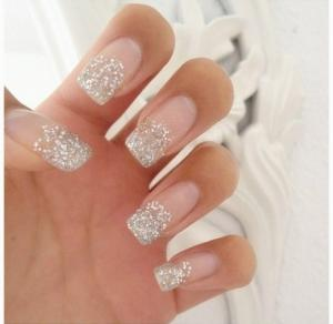 Quality Pink Glitter Romatic French Manicure Fake Nails Artistic Charming For Fingers Sale