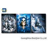 China Lenticular 3d Stereograph Printing With Scary Skull , 3d Home Decor Wallpaper on sale