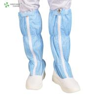 Blue And White Anti Static Shoes , ESD PU Non Slip Work Boots For Cleanroom