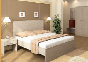 China Melamine Laminated Hotel Contract Furniture Panel Wood Style Custom Sizes on sale