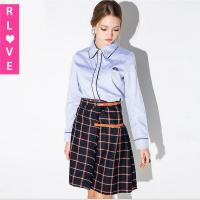 2015 new winter wild pleated skirt England College waist plaid skirts