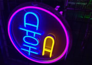China Circle logo Custom  Made  Neon Signs fashion led lighting picture can design on sale