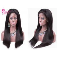 Natural Color Lace Front Wigs Black Woman Glueless Virgin Brazilian Human Hair