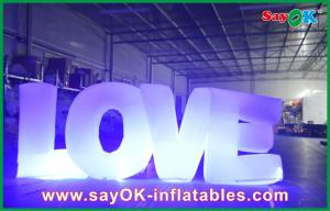 China Love Lighting Yard Inflatables Outdoor Decorations Nylon Cloth on sale