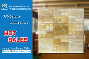 China Special stone marble mosaic tiles jade marble outdoor wall decor india on sale