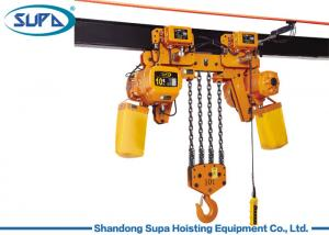 China Heavy Capacity Double Lift Speed Lifting Chain Hoist Yellow Color High Safety Wide Application Chain Electric Hoist on sale