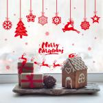 PVC 3D Christmas Wall Stickers Living Room Decoration Self Adhesive Easy To Stick