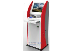China Automatic Bill Payment Kiosk , Metal Keyboard / Encrypted PCI Pin Pad Financial Service Machine on sale