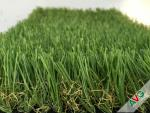 China 3 / 8'' Gauge PE + PP Material Flat Garden Artificial Grass For Exhibition wholesale