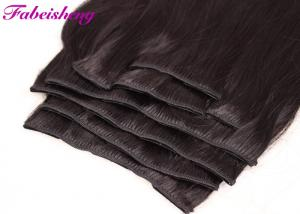 China Triple Weft 100 Human Hair Clip In Extensions Double Drawn Thick Ends on sale
