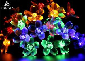 China 7M Solar LED Christmas Lights Flower String 50 LED With Cherry Blossoms Garland on sale