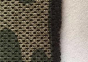 China 3d Spacer Mesh Camouflage Polyester Fabric Elastic Warp Apply To Garment on sale