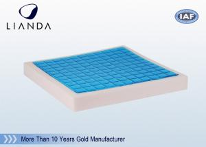 China 50D Density Memory Foam Cushion , Gel Square Seat Cushion Pad on sale