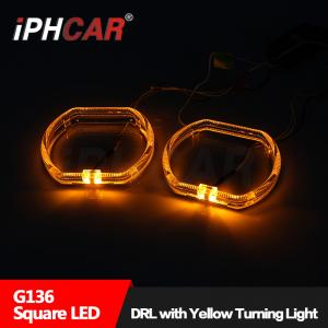 China IPHCAR BMW Halo rings Led light guide angel eye with turn light White/Blue/Red Epistar Chip Led angel eye on sale