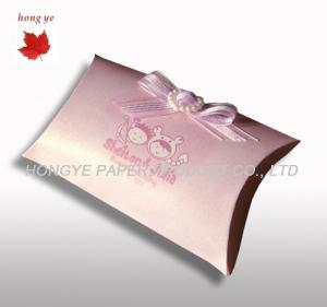 China Boîte-cadeau de carton réutilisés petit par oreiller pour la confiserie on sale