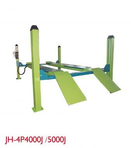 China Alarm Ring Portable Hydraulic Car Lift , 4 Post Garage Lift Free Caster Kit on sale