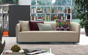 Quality Le divan sectionnel de cuir moderne de salon avec la haute densité écume, tissu de sofa italien de B/B for sale