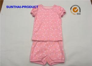 China Spring / Summer Children'S Clothing Sets 100% Cotton RIb Top And Short  Playwear on sale