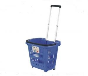 China Multi fuctional PP Shopping Basket With Wheels And Handle For Supmermarket on sale