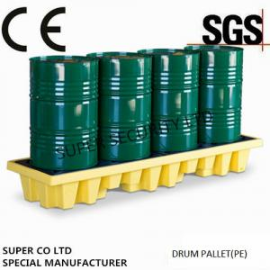 Quality Polyethylene Drum Containment Pallets For Chemical , Acids Amd Corrosives Liquid for sale