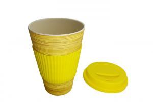 China Multi Colored Silicone Coffee Mug , Biodegradable Bamboo Fiber Silicone Coffee Cup on sale