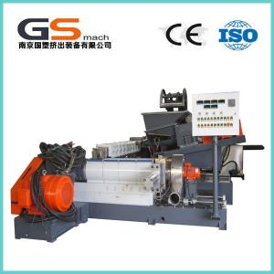 China Single / Double Screw Plastic Pellet Making Machine For PVC Cable / Wire Materials on sale