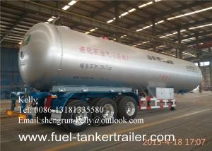 China Tri Axle 58.3 Cbm Liquefied Gas Semi Lpg Tanker Truck Trailer on sale