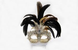 China Beige Lace Masquerade Masks on sale