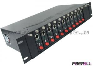 China Standalone Type Fiber Media Converter 14 Slots Rack With Dual Power Supply on sale