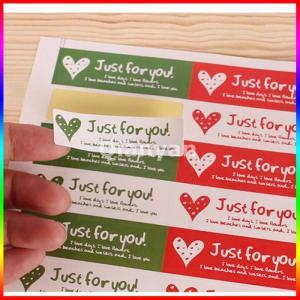 China custom paper sticker label printing for sealing envelope on sale