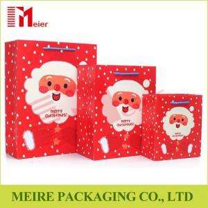 China Xmas Santa Claus printing gift bag festival christmas paper bag printed with thress size on sale