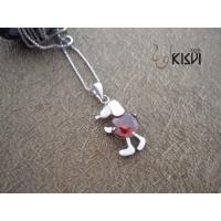 Fashion Jewelry 925 Sterling Silver Gemstone Pendant with Zircon W-VB905